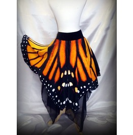Custom Made Monarch Butterfly Wing Skirt