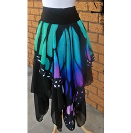 Custom Made Butterfly Wing And Chiffon Pixie Skirt