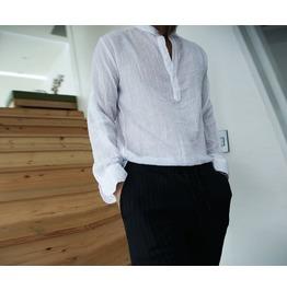 Spray Roll Up Sleeve Henry Neck Shirt