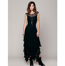 2016 Bohemian Style Multilayer Lace Women's Maxi Dresses