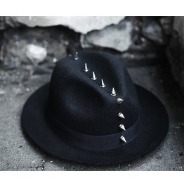 Men's Mohican Silver Stud Fedora Hat