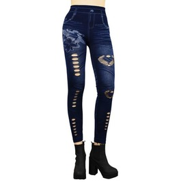 Punched Holes Leggings D1