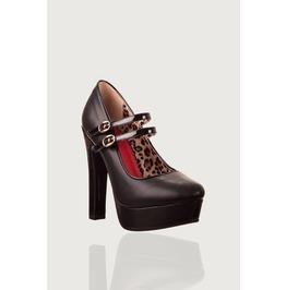 Banned Apparel Billie Joe Polka Dots Platform Shoes