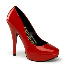 Pin Up Couture Harlow Red Patent Platform Pump