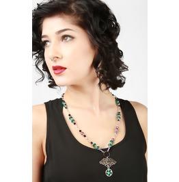 Handmade Green Owl Pentagram Necklace
