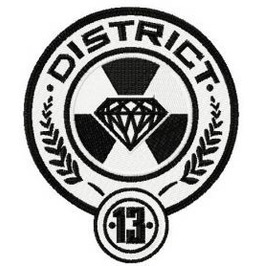 Embroidered Hunger Games District 13 Patch Sew On Style
