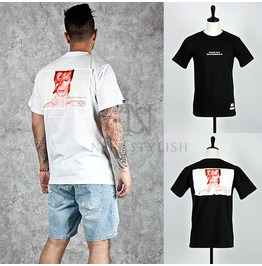 Rock Star Printing Accent Basic Round Cotton T Shirts 538