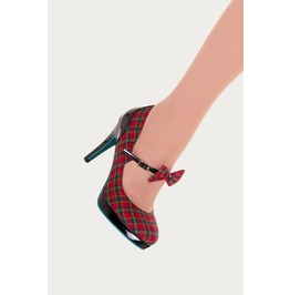 Banned Apparel Tartan Dorothy Platform Pump Shoes