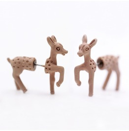 Cute Punk Three Dimensional Animal Giraffe Earrings Piercing Earring