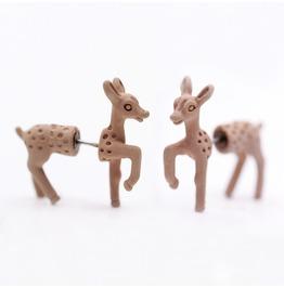 Cute Punk Three Dimensional Animal Giraffe Earrings Piercing Earring