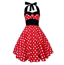 Rockabilly Pinup Disney Polka Dot Dress Minnie Mouse Mickey Christmas Dress