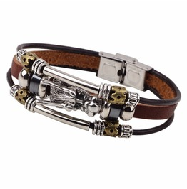 Vintage Dragon Multi Strands Leather Bracelet