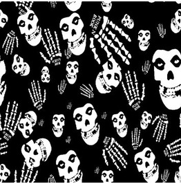 Black And White Skull Print Scarf