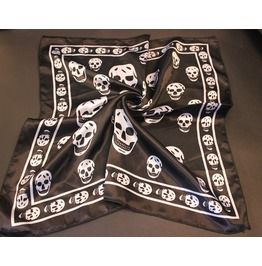 Black And White Skull Print Scarf D2