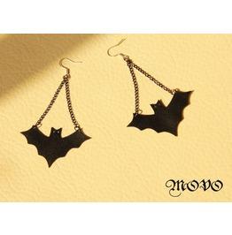Handmade Black Bat Gothic Earring Er 2