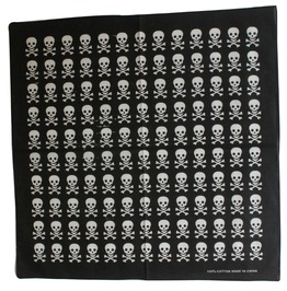 Rows Of Skull Print Scarf