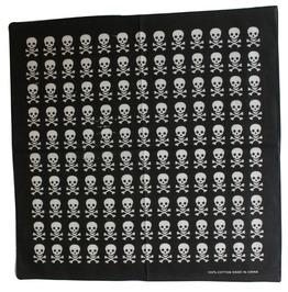 Rows Of Skull Print Scarf