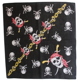 Pirate Skull Print Scarf