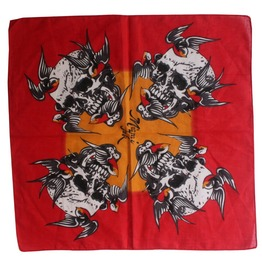 Bird And Skull Print Scarf