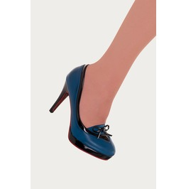 Banned Apparel Blue Grace Kitten Hill Retro Shoes