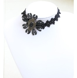 Handmade Black Lace Gothic Necklace Nk 4