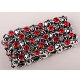 Vintage Steampunk Stretchable Crystal Skull Bracelet