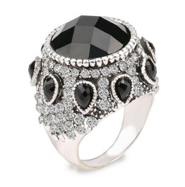 Vintage Steampunk Black Gem Ring