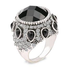 Vintage Steampunk Black Gem Ring