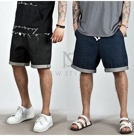Neat Basic Drawcord Denim Shorts 58