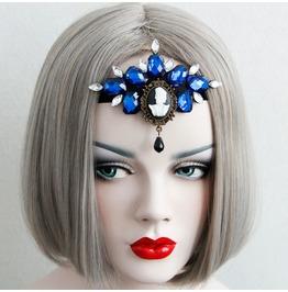 Handmade Blue Jewelry Tassels Gothic Hair Accessories Fd 37