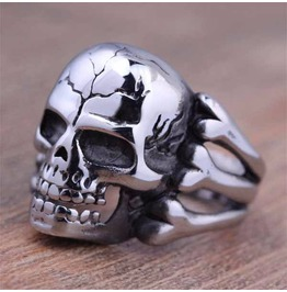 Vintage Steampunk Bone Skull Ring