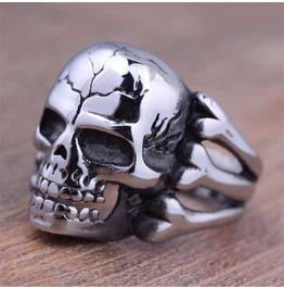 Vintage Steampunk Bone Skull Ring