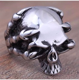 Vintage Steampunk Skull Claw Ring