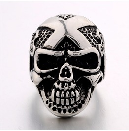 Vintage Steampunk Death Skull Ring