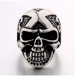 Vintage Steampunk Death Skull Ring