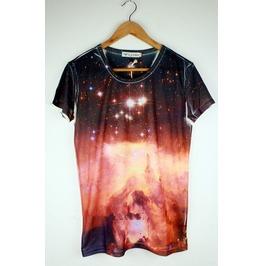 Red Planet Galaxy T Shirt Men