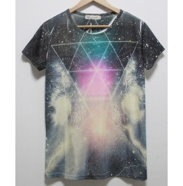 Cloud Triangle Galaxy T Shirt