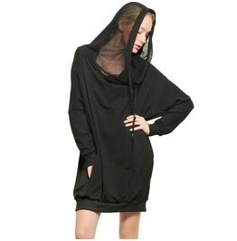 Punk Hooded Casual Dress With Pockets