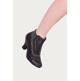 Banned Apparel Black Gloria Vintage Studded Boots