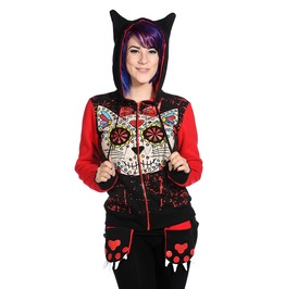 Banned Apparel Sugar Kitty Pow Hoodie