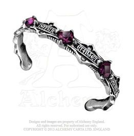 2031a42c586 In Nomini Patrie Amethyst Crystal High Church Templer Gothic Bracelet