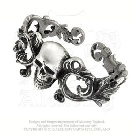 99f1cd769bc Pirate Dead Man s Arm Skull Face Gothic Cuff Bracelet English Pewter