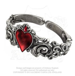 Red Enameled Heart Betrothal Rococo Masterpiece Of Romantic Gothic Bracelet