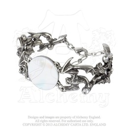 The Twilight Moon Of Bat's In Flight Bracelet By Alchemy Gothic