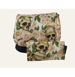 Skulls Bed Yellow Roses Cross Body Kelsi Ii Cross Body Purse With Wallet