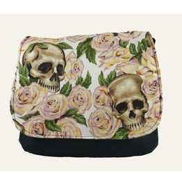 Skulls Bed Yellow Roses Cross Body Kelsi Ii Cross Body Mini Messenger Purse
