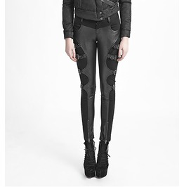 Black Gothic Faux Leather Future Cyber Punk Pants Fetish Zip Kink Trousers