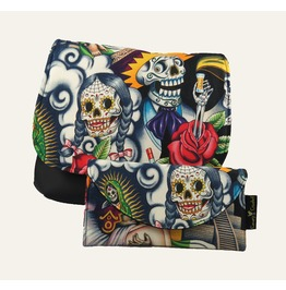 Sugar Skull With Tequila Guy Kelsi Ii Cross Body Bag With Wallet