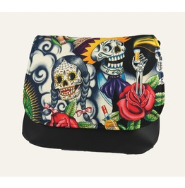 Sugar Skull With Tequila Guy Kelsi Ii Cross Body Bag Mini Messenger