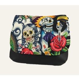 Sugar Skull With Tequila Guy Kelsi Ii Cross Body Bag Mini Messenger